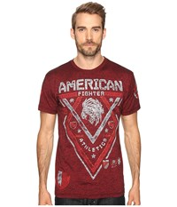 American Fighter Mississippi Artisan Short Sleeve Tee Rusted Red Men's T Shirt Orange