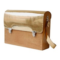 Grav Grav Colorful Wooden Satchel Bag Gold