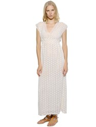 Talitha Cotton Crocheted Lace Dress