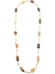 Loree Rodkin 18Kt Yellow Gold Walrus Bone Necklace Nude And Neutrals