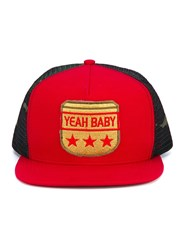 Saint Laurent Yeah Baby Flat Cap Red