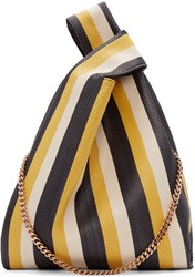 Stella Mccartney Multicolor Striped Large Woven Tote