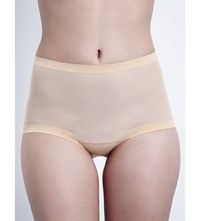 Wolford Tulle Control Briefs Nude