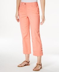 Jm Collection Petite Cropped Snap Button Pants Only At Macy's