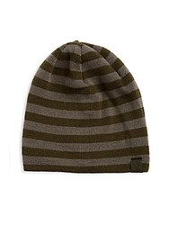 Penguin Striped Knit Beanie Rifle Green