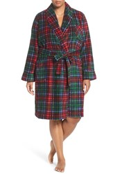 Lauren Ralph Lauren Plus Size Women's Short Print Fleece Robe