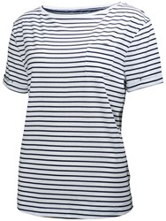 Helly Hansen Women's Naiad Stripe T Shirt Navy White