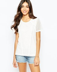 Oasis Lace Shell Top Ivory
