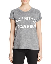 Private Party Pizza And Bae Tee Grey