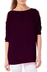 Michael Stars Women's Cold Shoulder Tee Wild Berry