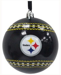 Memory Company Pittsburgh Steelers Ugly Sweater Ball Ornament Black