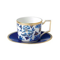 Wedgwood Hibiscus Teacup And Saucer