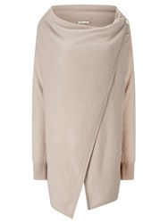 Jacques Vert Oversized Wrap Cardigan Neutral