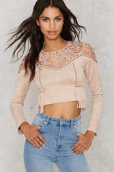 Nasty Gal J.O.A. Swayed By The Lace Crop Top