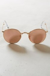 Anthropologie Ray Ban Round Folding Sunglasses Copper One Size Eyewear