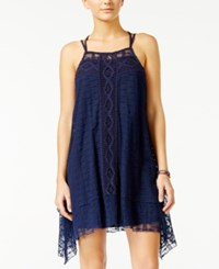 American Rag Lace Handkerchief Hem Trapeze Dress Only At Macy's Navy