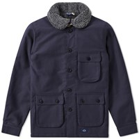 Bleu De Paname 3 4 Double Counter Jacket Blue