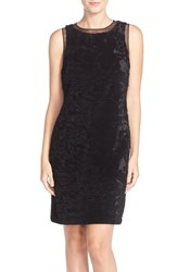 Women's Julia Jordan Velvet And Sequin Sheath Dress