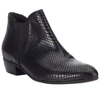Alice By Temperley Somerset Priddy Block Heeled Ankle Boots Black Leather