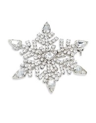 Design Lab Lord And Taylor Snowflake Pin Silver