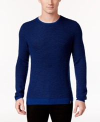 Calvin Klein Men's Crew Neck Merino Plait Sweater Brscptti Cmb