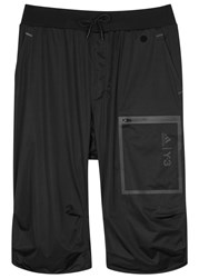Y 3 Sport Approach Black Satin Shell Shorts