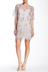 Yoana Baraschi Muse Embroidered Tunic Dress Gray