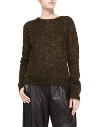 A.L.C. Boy Leopard Print Metallic Mohair Sweater