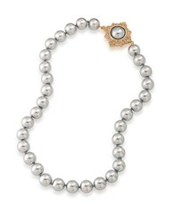 Carolee 12K Goldplated Faux Pearl Collar Necklace