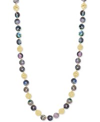 Lonna And Lilly Gold Tone Abalone Shell Strand Necklace Multi
