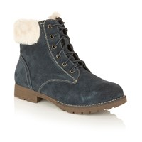 Lotus Vardy Lace Up Ankle Boots Navy