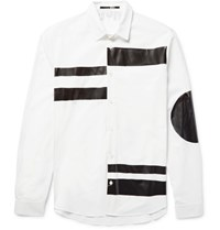 Mcq By Alexander Mcqueen Sheehan Slim Fit Coated Cotton Poplin Shirt White