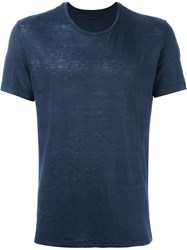 Etro Round Neck T Shirt Blue
