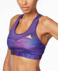 Adidas Techfit Space Dyed Climalite Mid Impact Sports Bra Uni Purple