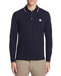 Moncler Long Sleeve Regular Fit Polo Shirt Navy