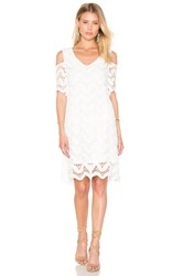 1. State Cold Shoulder Lace Dress White