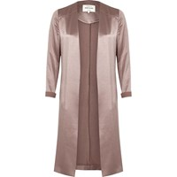 River Island Womens Pink Satin Duster Jacket