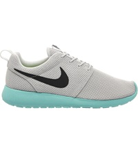 Nike Qs Qs Roshe Run Mesh Trainers Platinum Anthracite