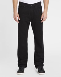 Element Black Rochester Wash Stretch Straight Fit Jeans