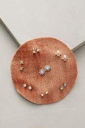 Anthropologie Mara Earring Set Peach