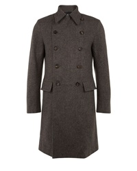 Aquascutum London Underhill Double Breasted Coat Brown