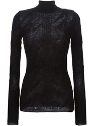 Masnada Fitted Turtleneck Sweater Black
