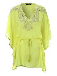 Jane Norman Embellished Kaftan Dress Yellow