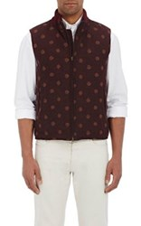 Montedoro Men's Polka Dot Embroidered Vest Red