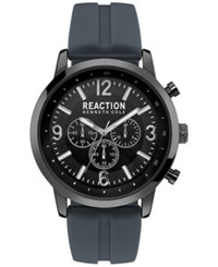 Kenneth Cole Reaction Men's Gunmetal Gray Silicone Strap Watch 44Mm 10030931 Grey