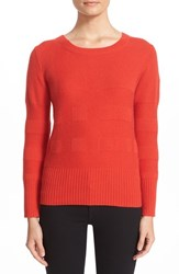 Burberry Women's 'Deel' Check Knit Wool And Cashmere Sweater