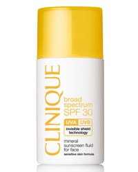 Clinique Mineral Sunscreen Fluid For Face Broad Spectrum Spf 30 1.0 Oz.