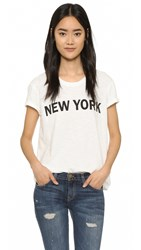 Textile Elizabeth And James New York Bowery Tee White Black