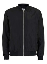 Topman Black Nylon Lightweight Bomber Jacket
