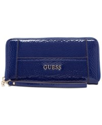 Guess Delaney Large Zip Around Wallet Sapphire